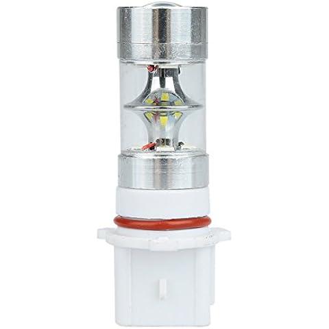 izura (TM) Socket de P13W 283512-SMD 600lm LED Car Fog Light con freno de estacionamiento lámpara de luz bombilla de recambio Blanco