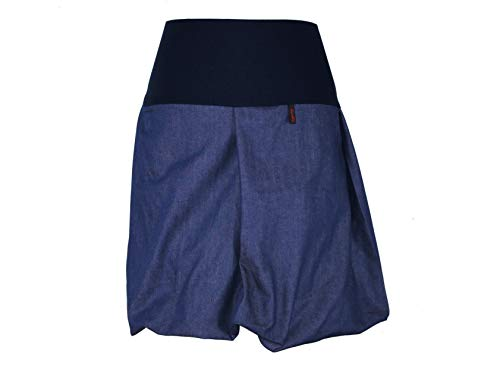 Dunkles Design (dunkle design Damen Ballonrock Jeansrock Jeans Farbe Midi oder Knielang nach Wahl (Mittelblau Blau, M 40/42))