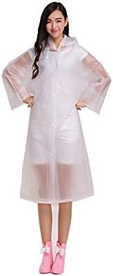 ColorRain moda transparente impermeable lluvia Chubasqueros / Poncho Impermeable chaqueta para mujer señora chica