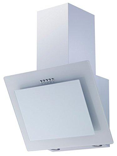 respekta kopffreie Schräghaube Dunstabzugshaube Abzugshaube Glas 60 cm weiß LED