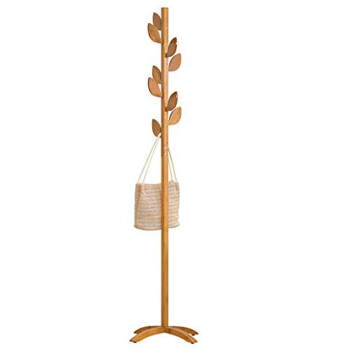QARYYQ Blatt Hammer Haken Kleiderständer Boden Massivholz Kleiderbügel Einfache Kleiderbügel Schlafzimmer Kleidung Hängen Mode Kleiderbügel 175x45 cm x 3,5 cm Garderobe -