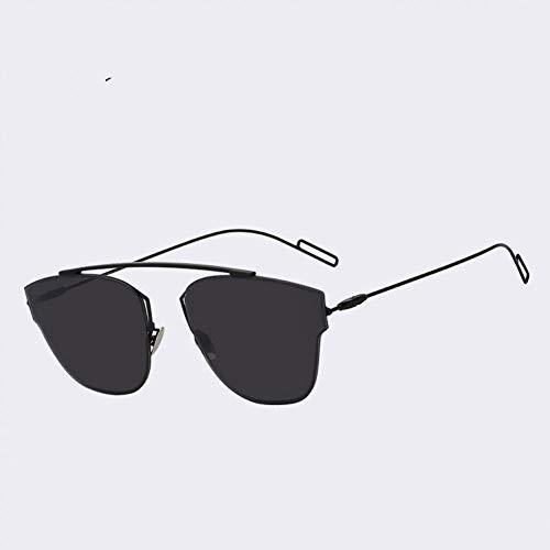 Yuanz Randlose Metallrahmen Frau Brille Sonne Vintage Damenmode Sonnenbrillen Markendesigner Pink Flash Lens,T