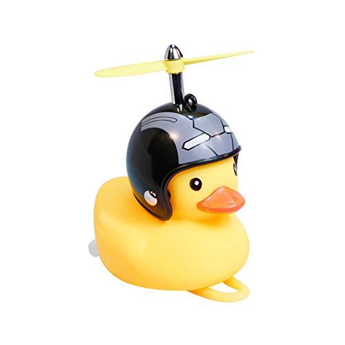 huyiko Zweirad Duck Bell mit leichtem Wind, kleine Ente, Gelb, MTB, Rennrad, Motorrad, Reiten, Fahrradzubehör -
