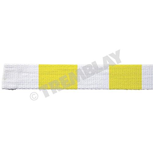 Rouleau de 25 METRES de ceinture de judo blanc jaune