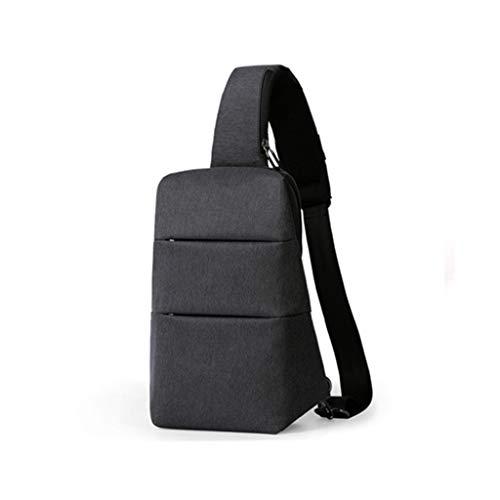 YWJFASHION Brusttasche Männliche Wasserdichte Oxford Tuch Große Kapazität Multifunktions Rucksack Sport Reiten Lässig Schwarz Umhängetasche