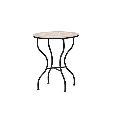Siena Garden Tisch Finca, Ø60x71cm, Gestell: Stahl, pulverbeschichtet in schwarz matt, Fläche:...