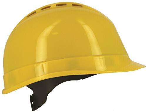 Silent SL1470, casco di sicurezza industriale, cappello rigido, ventilato, imbracatura a 6 punti, certificato EN 397 e A1, giallo