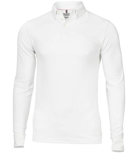 Nimbus Carlington Deluxe Langarm Polo Weiß