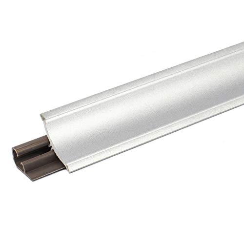 [DQ-PP] 2,5m Winkelleisten Aluminum silver für Küchen 23mm x 23mm Arbeitsplatten Grundprofil Abschlussleiste