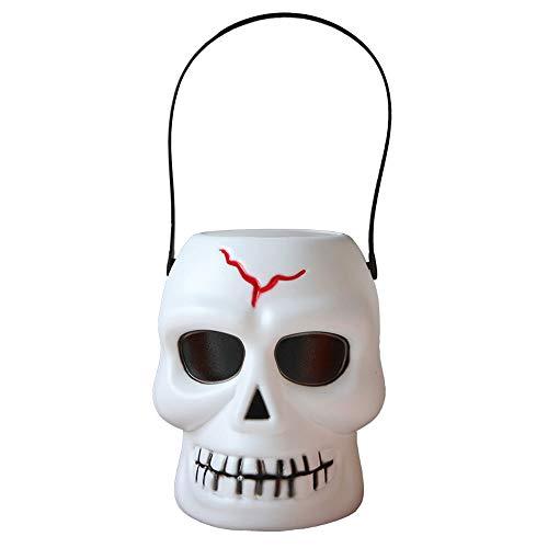 Maske YN Halloween Kinder Skelett Kürbis Eimer KTV Bar Dekoration Requisiten Elektronische Kerze Glow