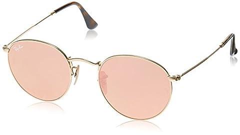 Ray Ban Herren Sonnenbrille Round Metal Gold (Gestell: Gold,Bügel: Havana, Gläser: Kupfer 001/Z2), Small (Herstellergröße: 50)