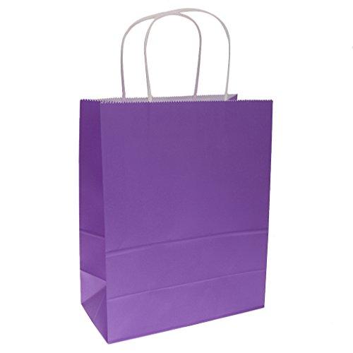 Prettyia Einfarbig Geschenktüten | Partytüten | 10er Set | zum Befüllen | für Mitgebsel, Kindergeburtstag, Party, Gastgeschenke, kleine Geschenke, Scherzartikel, Hochzeit - Lila, 22cm