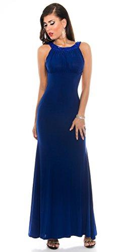 Wunderschönes langes KouCla Galakleid Abendkleid - Rückenfrei mit Strass in versch. Farben (K18272) Royalblau