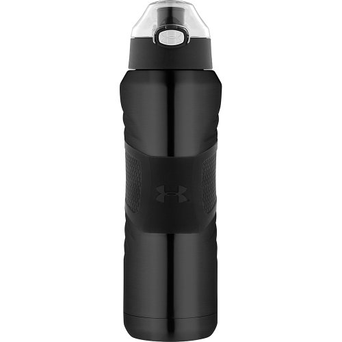Under Armour Dominate 24 Ounce Vacuum Insulated Bottle, Gloss Black