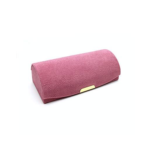Flanell Schmuckkasten Mini Schmuckschatullen Schmuckkoffer Tragbar Reisen Schmuck Aufbewahrungsbox für Herren Damen Schmuckständer für Armbänder Halskette Ringe Schmuckrolle mit Snap-Verschluss,Pink