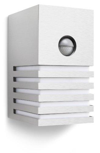 Philips Veranda Lampada da Parete da Esterno con Sensore, Alluminio Grigio, Lampadina Inclusa
