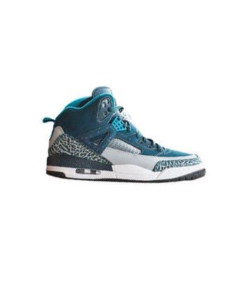 nike air jordan SPIZIKE (GS) easter hi top trainers 317321 sneakers shoes (uk 4 us 4.5Y eu 36.5, space blue fusion pink wolf grey black 407)