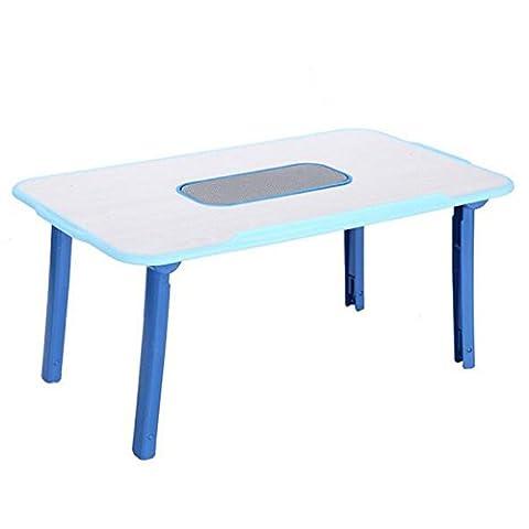 HJMTRY Computer-Schreibtisch-Multifunktions-faltbarer großer Ventilator zerstreuter Hitze-Schreibtisch auf Bett 54 * 31 * 25-35CM , 54*31*25-35cm