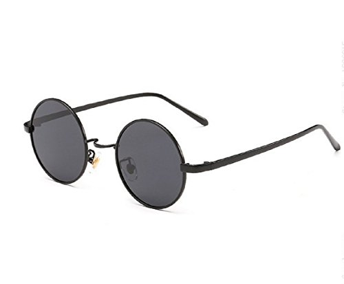"(M.Nero-L.Nero) Gafas de sol redondo del hippie Modelo Jhon Lennon Hombres Mujeres unisex polarizadas UV400"","