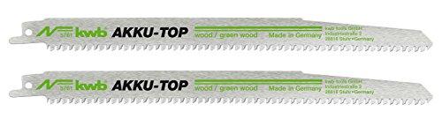 kwb AKKU-TOP 576100 - Lama per sega frontale (acciaio al carbonio HCS per lavorazione del (Carbonio Lama Lame)