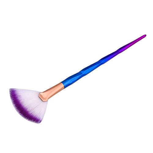 Gazechimp Fächerpinsel / Highlighter Pinsel / Foundation Blending Brush / Blush Brush / Concealer Pulver Schminkpinsel für Berufsverfassungs oder Ausgangsgebrauch - Mehrfarbig -