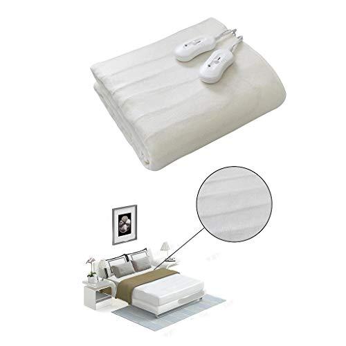 Todeco - Elektrische Unterdecke, Heizdecke - Standard/Zertifizierung: CB - Länge des Netzkabels: 2 m - Doppel, 160 x 140 cm, 2x60W, Weiß, Mechanische Steuerung, Polyester