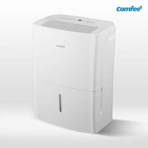 Comfee Luftentfeuchter APP-fähig 16L in 24h, Raumgröße ca. 80m³ (-32 m²), 170ca. m3/h Luftleistung, weiß, MDDF-16DEN7-WF, 230 V