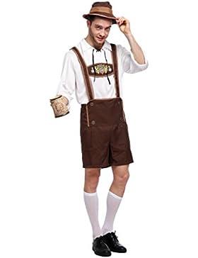 Dirndl Trachtenkleid mit Rüschen Kostüm für Oktoberfest / Karneval