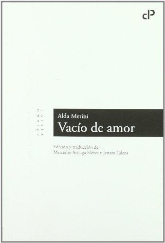 Vacio De Amor (Cálamo Poesía)
