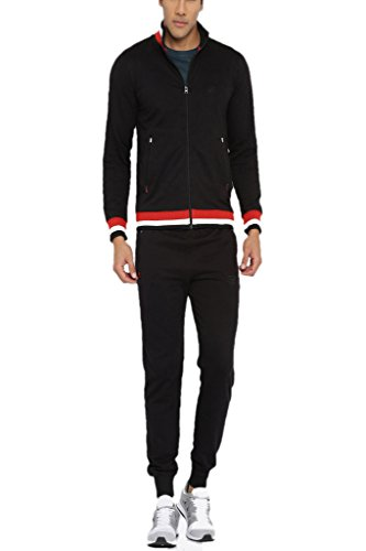 Fifty Two Men's Cotton Blended Track Suit S52W148676-N_Black_XXL