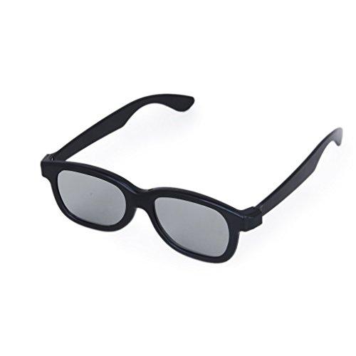 TOOGOO(R) 5 Paar Erwachsene Passiv Kreisfoermige polarisierte Linse 3D Brille - Schwarz