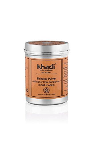 khadi Shikakai Pulver 150g I Ayurvedische Haar-Pflege I Vegane Haarkur aus Indien I Milde Reinigung...