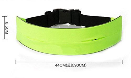 Funshow Running Taille Tasche GYM Fitness Stretch Pack Gürtel Handy Schlüsseletasche Outdoor Sport Jogging WaistBand Zubehör Orange
