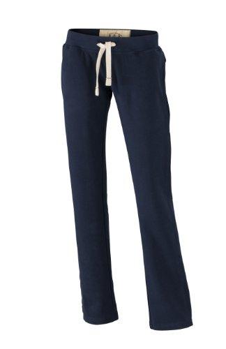 James & Nicholson Damen Hose Sweathose Ladies' Vintage Pants X-Large navy -