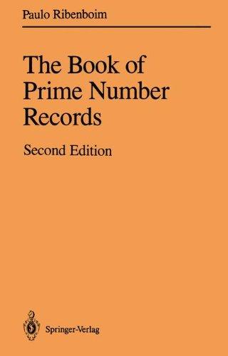 The Book of Prime Number Records por Paulo Ribenboim