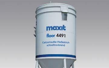 maxit floor 4491 turbo (weber.floor 4491) - Calciumsulfat-Fließestrich - CAF-C30-F5, schnelltrocknend, 25kg -