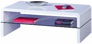 Links 50100125 Momo Table Basse Blanc Laqué 110 x 60 x 40 cm