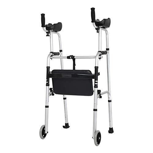 SXRL Arthritis Gehhilfe mit Habe Arm Gepolstert Gepolstert klappbar Gehwagen Rollator faltbar und leicht Für ältere Menschen-Maximale Last 100kg