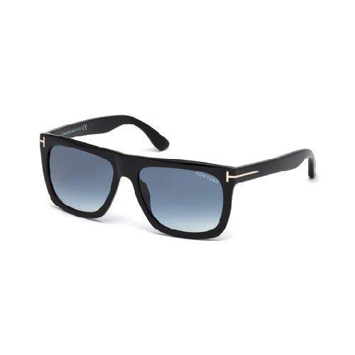 Tom Ford Unisex-Erwachsene FT0513 01W 57 Sonnenbrille, Schwarz (Nero Lucido/Blu Grad),