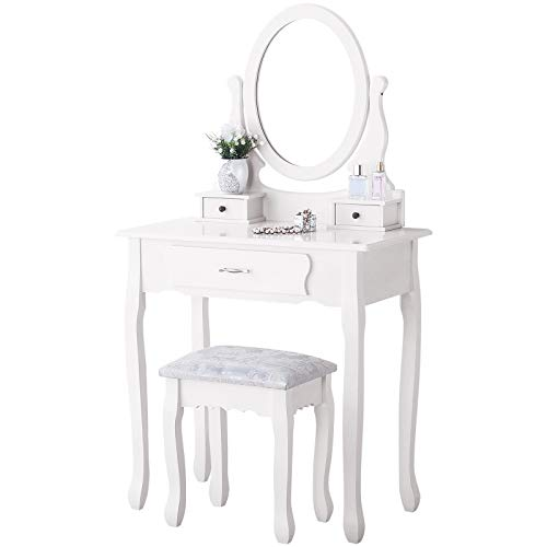mecor White Dressing Table With ...