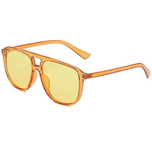 fazry Herren Damen Persönlichkeit Steampunk Sonnenbrille Retro Brille Brillen(B)