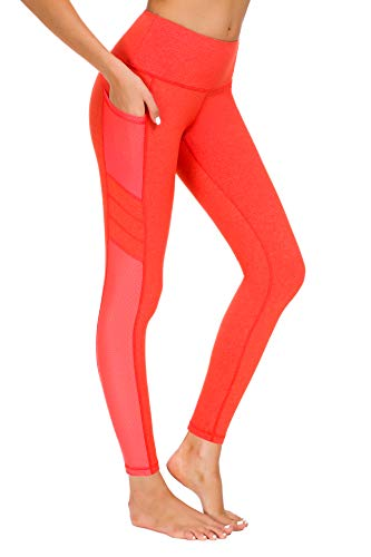 Munvot Damen Sporthose Sport leggings Tights, Orange, S (DE36-38)