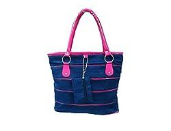 Deal Especial gray & pink big size Stylish women canvas handbag gifts