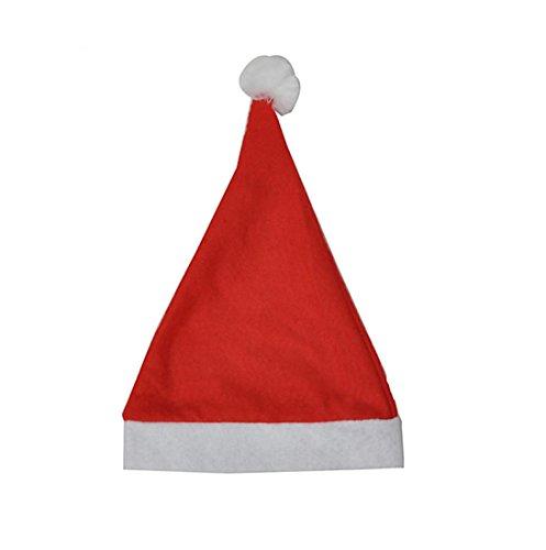 OHQ 10 PCS fête de Noël Chapeau de Père Noël rouge et bleu Cap pour le Père Noël Costume Nouveau