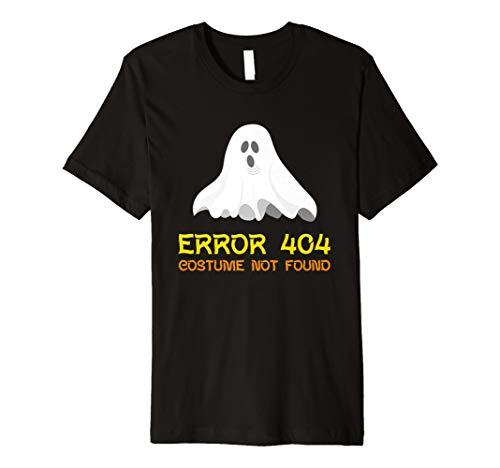ERROR 404 Kostüm Nicht Gefunden Halloween Geist T-Shirt