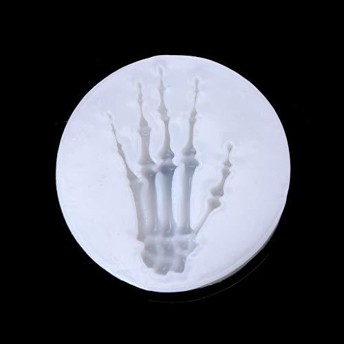 rm Gießform Resin Form Halloween Fledermaus Eule Spinne Skelett Hand Silikon DIY Schmuck Kuchen Harz Formwerkzeug ()