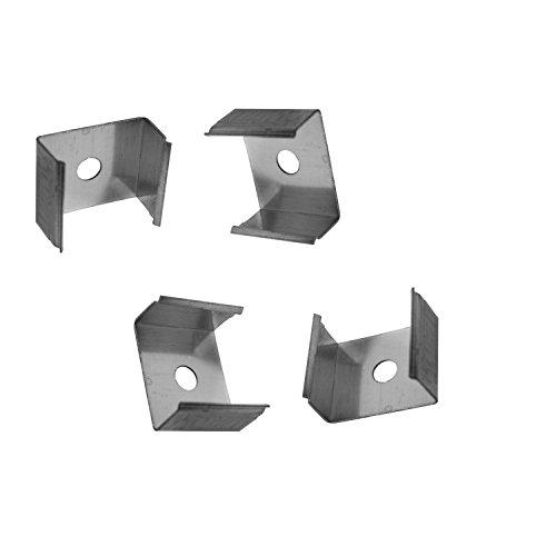 4x Montagehalterungen für das Alu-Modell AUFPUTZ-KL von Alumino® zum Einklicken -