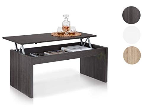 Due-Home Table Basse Grise avec Plateau relevable