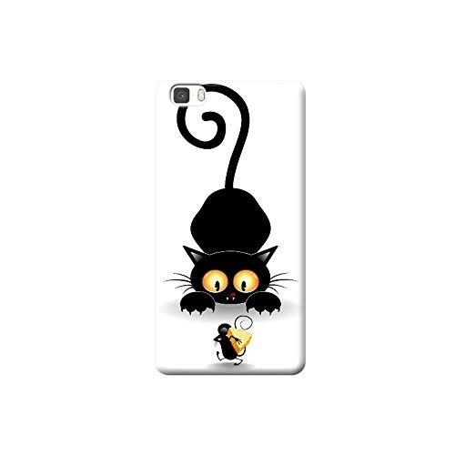 TheBigStock Handyschutz Hülle Cover für Huawei Mate 10 9 8 7 S PRO Nexus 6P NOVA 2 Plus P7 LITE TPU - AA39 Schwarze Katze-und-Maus mit käse, Mate 7S