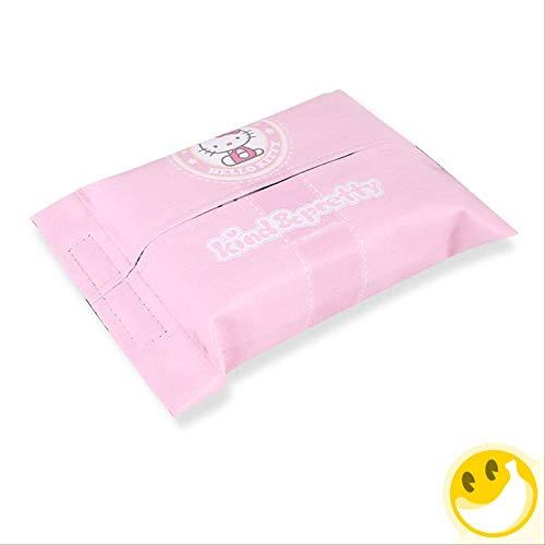 FEIF Papiertaschentuchbox Auto-Plüsch-Gewebe-Abdeckungs-Nettes Karikatur-Hundepuppe-Großes Organisations-Tuch Plus Kreatives Auto-Papierkasten-Weiß -